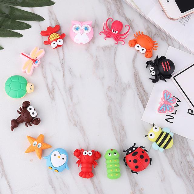 Cable bite Cute Animal cable protector for iphone usb cable organizer chompers charger wire holder for iphone cable Accessories My Moppet Shop Send random
