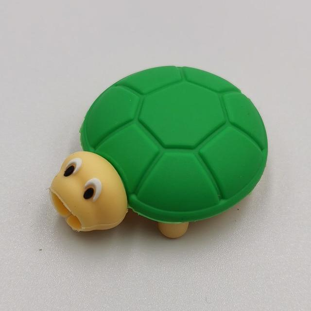 Cable bite Cute Animal cable protector for iphone usb cable organizer chompers charger wire holder for iphone cable Accessories My Moppet Shop Turtle