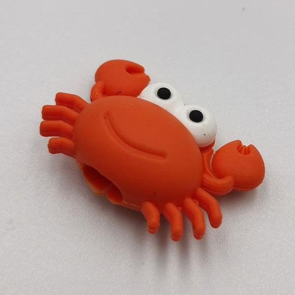 Cable bite Cute Animal cable protector for iphone usb cable organizer chompers charger wire holder for iphone cable Accessories My Moppet Shop Crab