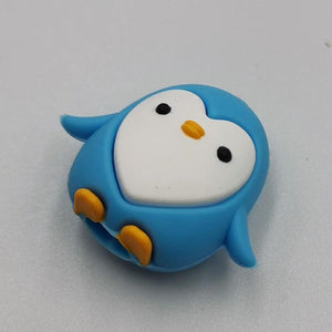 Cable bite Cute Animal cable protector for iphone usb cable organizer chompers charger wire holder for iphone cable Accessories My Moppet Shop Penguin