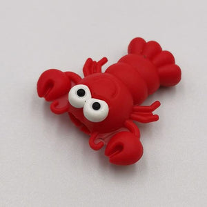 Cable bite Cute Animal cable protector for iphone usb cable organizer chompers charger wire holder for iphone cable Accessories My Moppet Shop Lobster