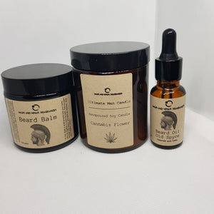 Man candle-beard oil-beard balm