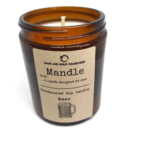 Mandle beer fragranced candle for fathers day