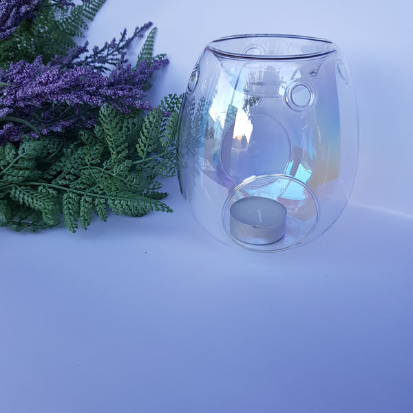 Luxury pearl glass tealight warmer