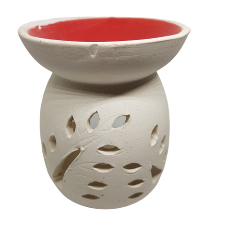 Ceramic warmer red