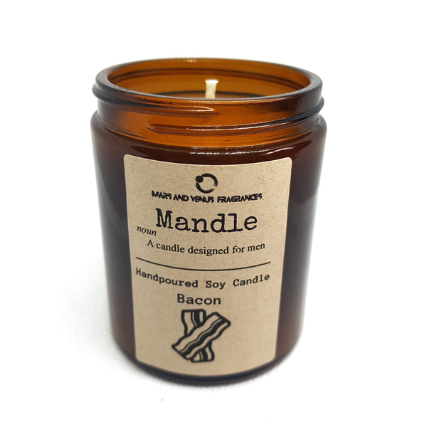 bacon scented candle by mars and venus fragrances