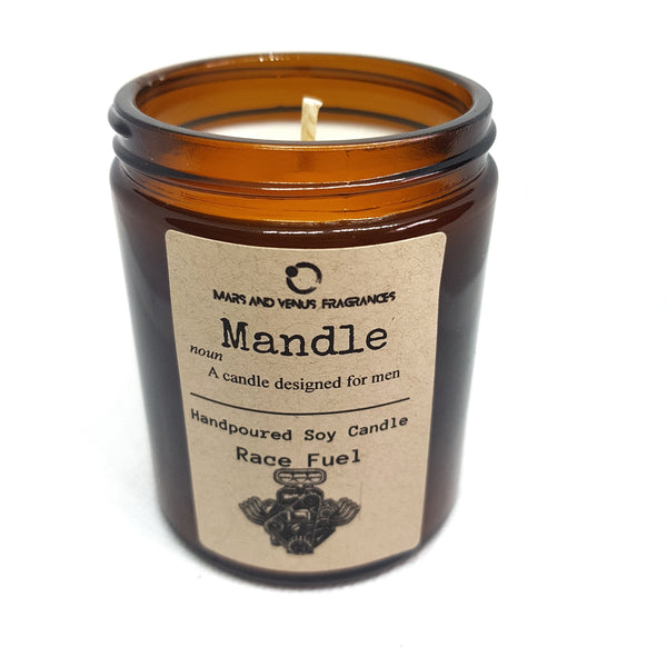 Mandle Race fuel man candle gift for fathers day