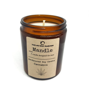 Mandle: Cannabis Man Candle