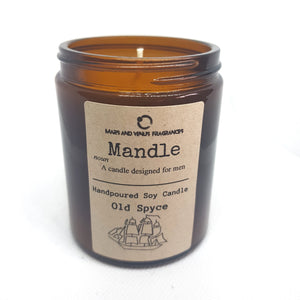 Mandle: Old Spyce Man Candle