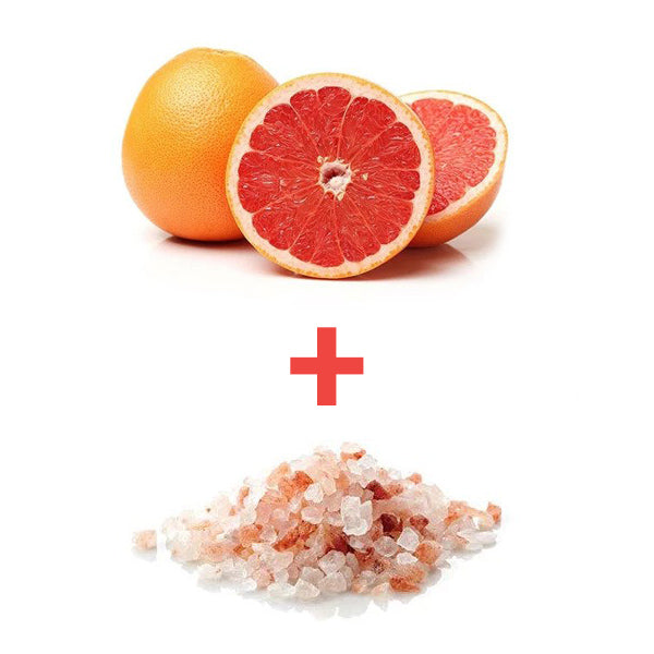 Grapfruit and salt