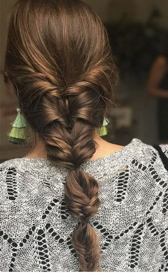 bridal hairstyle with braid