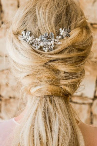 hair comb bride with pearls
