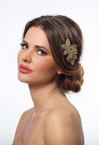hair comb for bride gold
