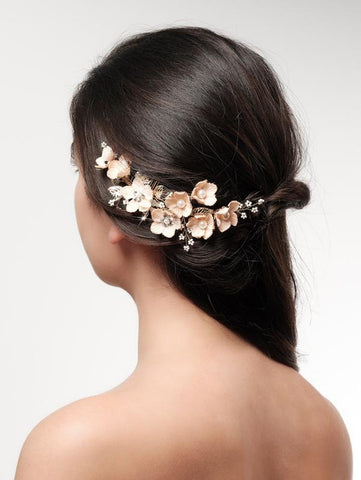 hair comb for bride with flowers