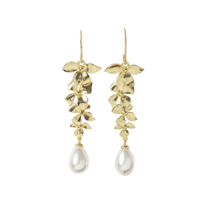 DELICATE ORCHID CHANDELIER EARRINGS