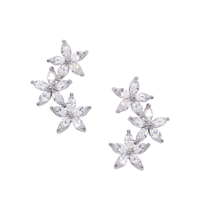 Silver Dainty sparkle earrings
