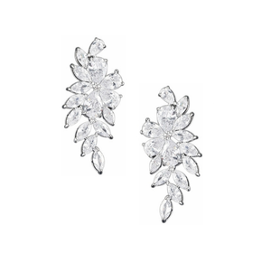 Zirconia Crystal romance earrings