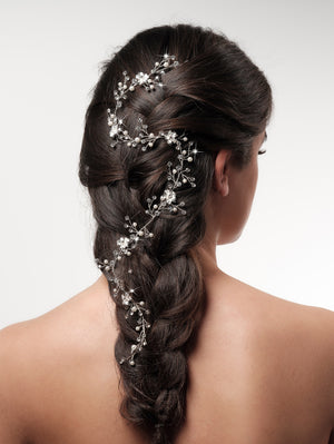 Hair vine BB-8593 zilver