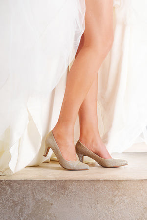 Bridal Shoe Brooke gold - In White Shop