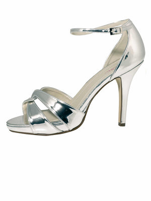 Bridal Shoe Cate silver - In White Shop