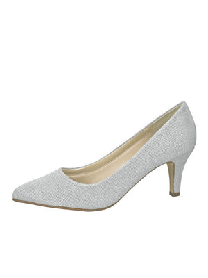Bridal shoe Brooke silver - In White Shop