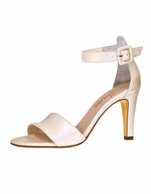 Bridal Shoe Cherelle Perle Leather - In White Shop