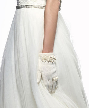 Luxury set scarf and gloves for bride Set S170