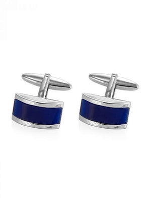 Blue cuff links for groom