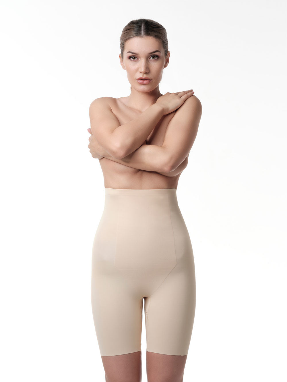 MP-56 High Waist Control Short nude