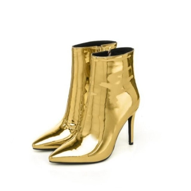 Fashion Gold Ankle Boots – Pinkminkdolls ac09a3aa1