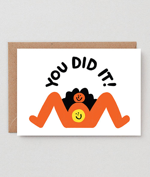 "Geburtskarte ""You Did It!"" / Wrap"