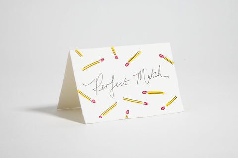 "Hochzeitskarte ""Perfect Match"" / Scribble & Daub"