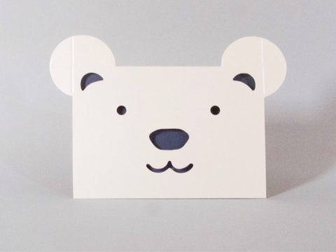 "Karte ""Polar Bear"" / Cut & Make"