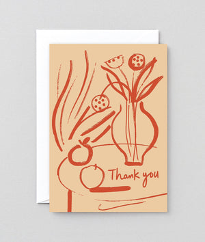 "Dankeskarte ""Thank You Vase on The Table"" / Wrap"