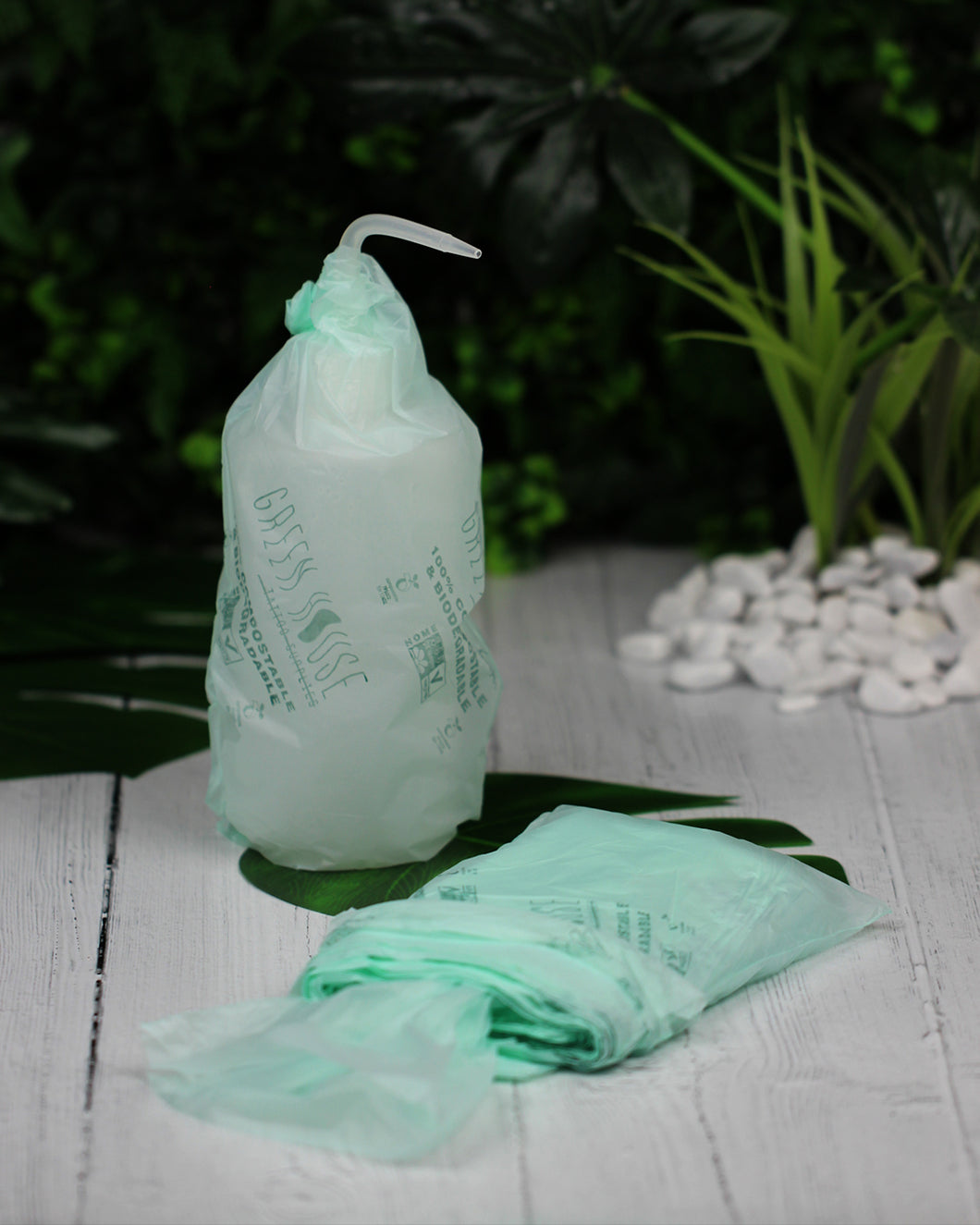 Green House Tattoo Supplies bottle bags plant based plastic free