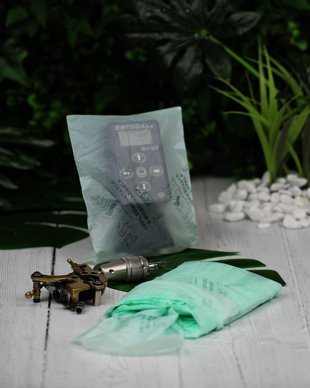 Green House Tattoo Supplies machine power supply bags plant based plastic free