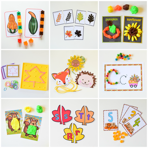 Autumn Fall Math and Literacy Centers