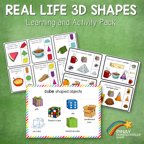 3D Shapes in Real Life Learning Pack