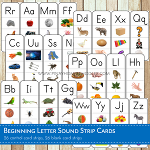 Beginning Letter Sound Phonics Cards