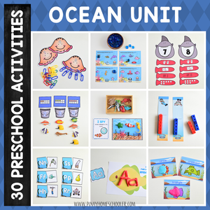 Ocean Preschool Math and Literacy Pack