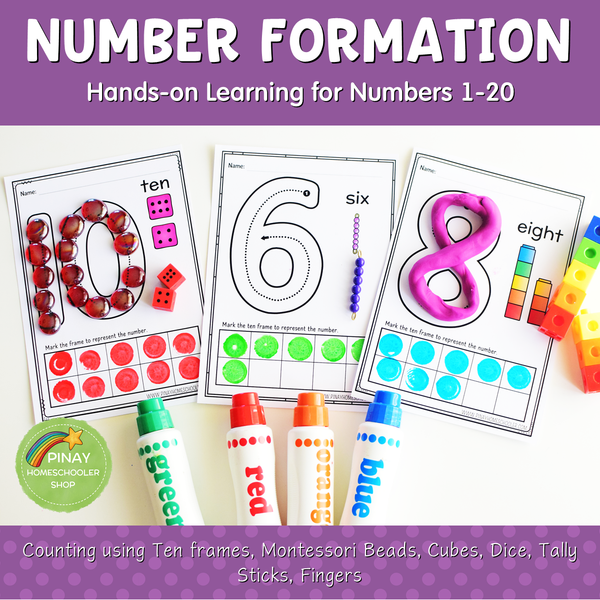 1-20 Number Formation Worksheets