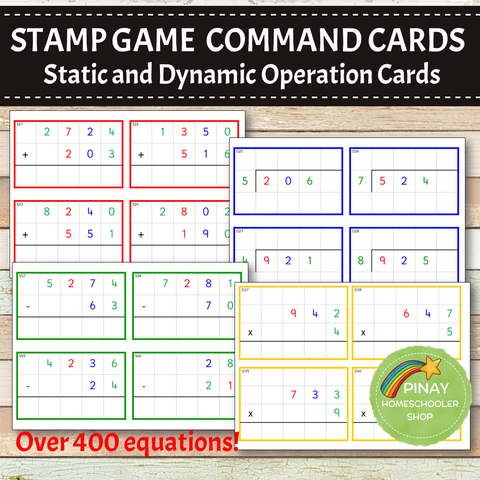 Montessori Stamp Game Command Cards BUNDLE