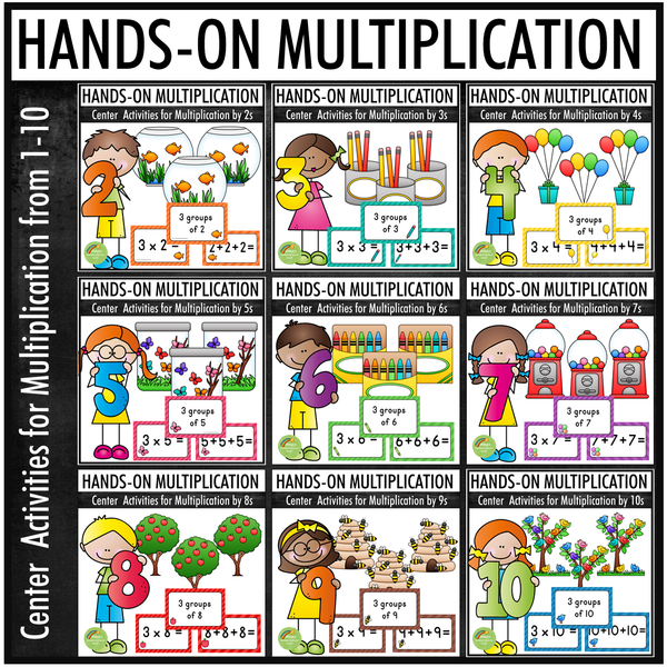 Hands-on Multiplication BUNDLE - Center Activities