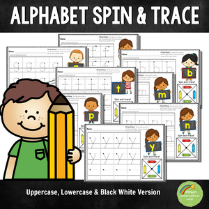 Alphabet Spin and Trace Worksheets