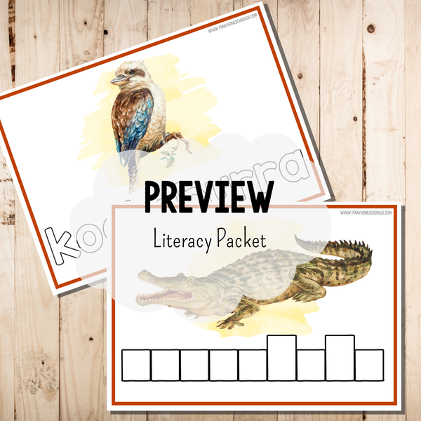 Oceania Australia Animals Literacy Packet