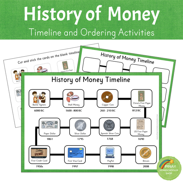 History of Money - Timeline and Ordering Activities