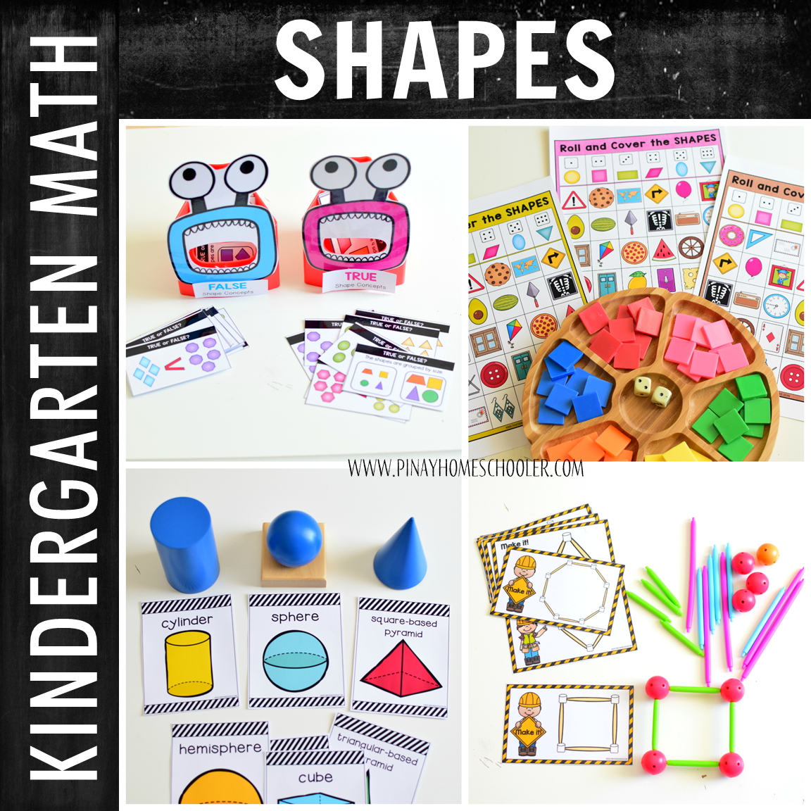 Kindergarten Math:  Geometry and Shapes (Centers)