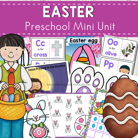 Easter Preschool Kindergarten Mini Unit