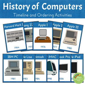 History of Computers - Timeline and Ordering Activities