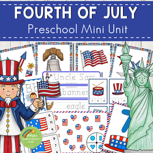 4th of July Preschool and Kindergarten Mini Unit Activities
